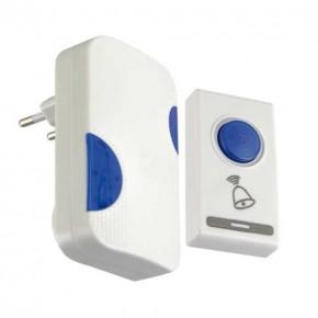 Dzwonki-do-drzwi-bezprzewodowe - dzwonek bezprzewodowy biało-niebieski nutka 03895 ideus