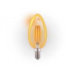 Gwint-trzonek-e14 - żarówka led świeczka złota filament 6w e14 c37 2700k db020 gold inq