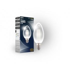 Gwint-trzonek-e14 - żarówka led świeczka filament z neutralnym światłem 4w e14 c37 db010nw inq