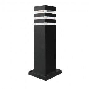 Lampy-ogrodowe-stojace - lampa ogrodowa aluminiowa grafit słupek 44 cm e27 teksas polux