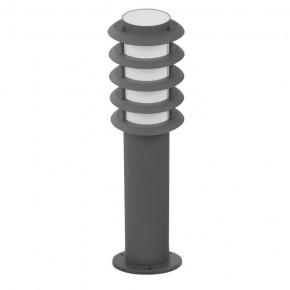 Lampy-ogrodowe-stojace - lampa ogrodowa serena szara tuba+rastry 45cm e27 polux