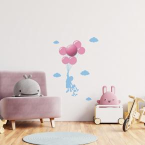 Oswietlenie-do-pokoju-dzieciecego - lampka dziecięca na ścianę różowe baloniki plafon plus naklejki balloons 0,6w led eko-light