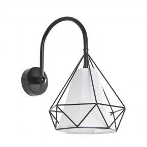 Kinkiety - lampa ścienna z geometrycznym kloszem na żarówkę e27 hira 314567 polux