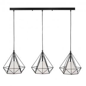 Lampy-sufitowe - geometryczna lampa wisząca potrójna czarny/biały hira 314574 polux