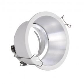 Oprawy-sufitowe-ruchome - oprawa podtynkowa biało-srebrna regulowana mr-16 12v dc kolding polux