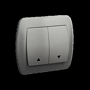 Wylaczniki-zaluzjowe - przycisk roletowy aluminiowy podtynkowy simon akord az1/26 kontakt-simon