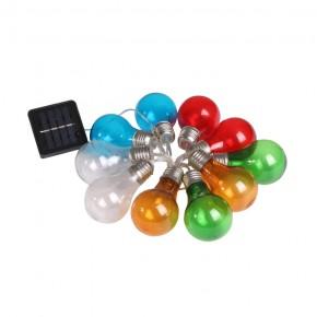 Swiecace-kule-i-girlandy - girlanda solarna kolorowe żarówki edison party multi 10 polux