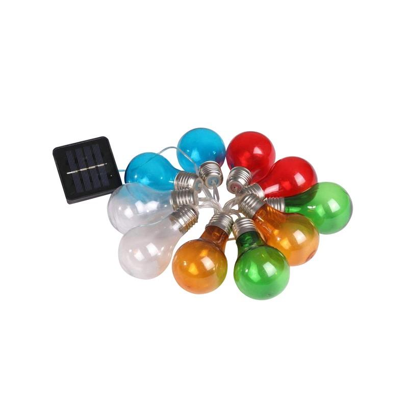Swiecace-kule-i-girlandy - girlanda solarna kolorowe żarówki edison party multi 10 polux firmy POLUX