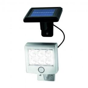 Naswietlacze-led-solarne - szary naświetlacz solarny led z czujnikiem ruchu i zmierzchu 150lm polux