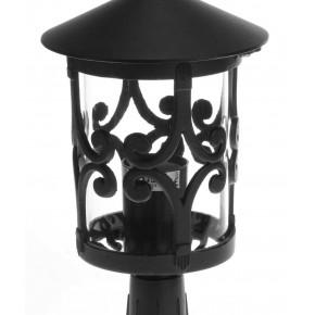 Slupki-ogrodowe - niska lampa ogrodowa stojąca czarna e27 styl-4314 rum-lux