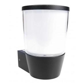 Kinkiety-ogrodowe - kinkiet elewacyjny czarny aluminium e27 aura rum-lux