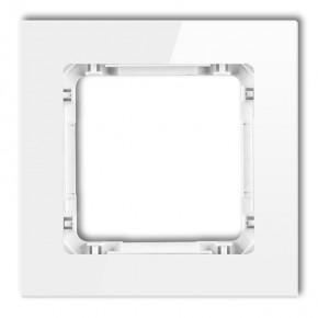 Ramki-pojedyncze - ramka pojedyncza szklana biała z białym spodem 0-0-drg-1 karlik deco