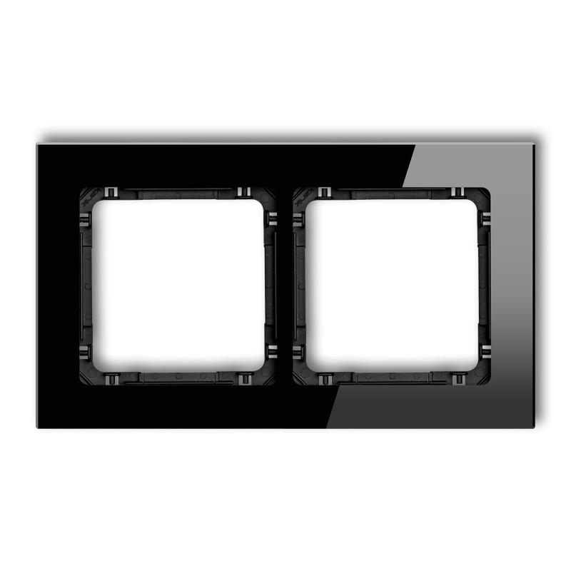 Ramki-podwojne - ramka podwójna czarne szkło 12-12-drg-2 karlik deco firmy Karlik