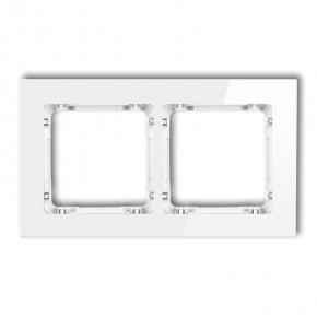 Ramki-podwojne - ramka podwójna białe szkło 0-0-drg-2 karlik deco