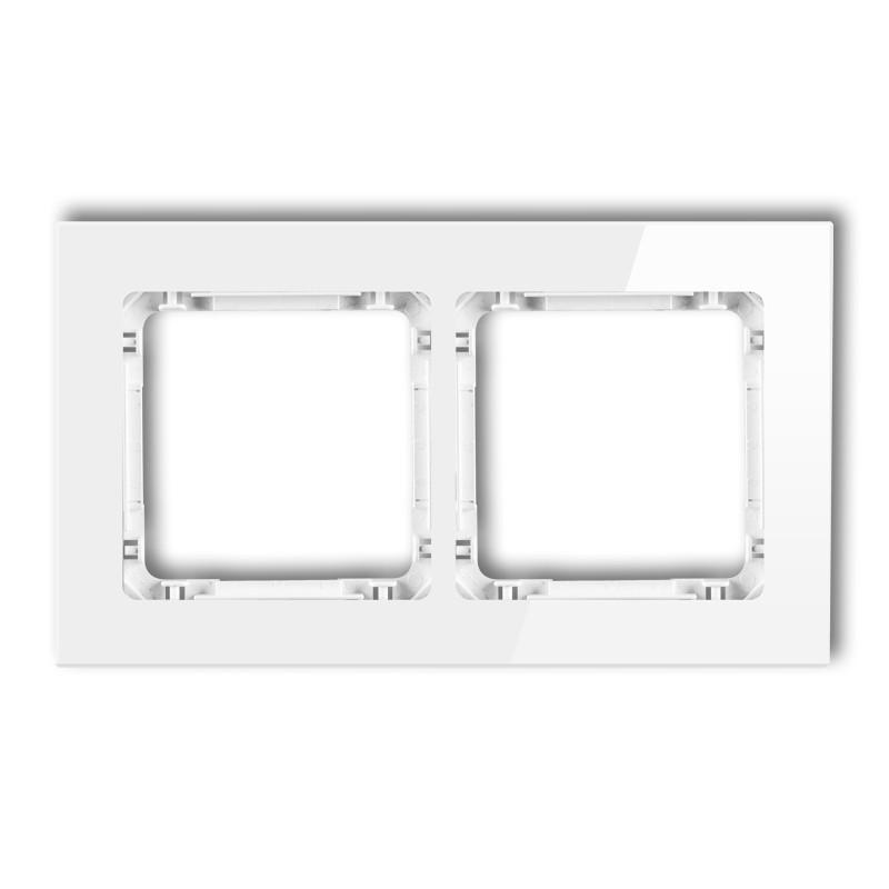 Ramki-podwojne - ramka podwójna białe szkło 0-0-drg-2 karlik deco firmy Karlik