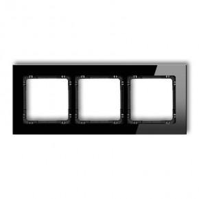 Ramki-potrojne - ramka potrójna czarne szkło 12-12-drg-3 karlik deco
