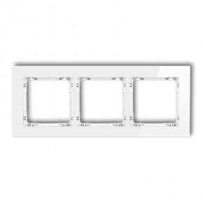 Ramki-potrojne - ramka potrójna biała szkło 0-0-drg-3 karlik deco