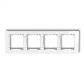 Ramki-poczworne - ramka uniwersalna poczwórna ze szkła biała 0-0-drg-4 karlik deco