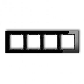 Ramki-poczworne - ramka uniwersalna poczwórna ze szkła 12-12-drg-4 karlik deco
