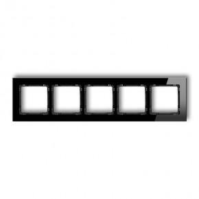 Ramki-pieciokrotne - ramka pięciokrotna uniwersalna czarna ze szkła 12-12-drg-5 karlik deco