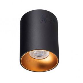 Oprawy-sufitowe - oprawa sufitowa punktowa tuba czarno-złota riti gu10 27571 kanlux