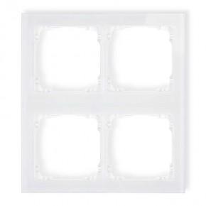 Ramki-poczworne - poczwórna ramka modułowa z efektem szkła biała deco 0-0-drsm-2x2 karlik