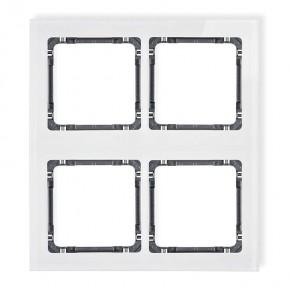 Ramki-poczworne - ramka poczwórna modułowa z efektem szkła biały/grafit deco 0-11-drsm-2x2 karlik