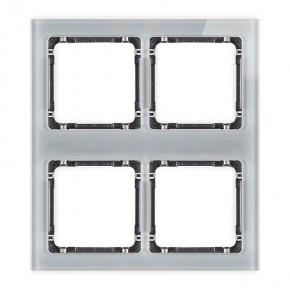 Ramki-poczworne - ramka poczwórna modułowa z efektem szkła szara/spód grafit deco 15-11-drsm-2x2 karlik