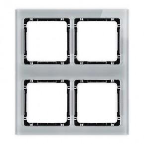 Ramki-poczworne - ramka poczwórna modułowa z efektem szkła szara/spód czarny deco 15-12-drsm-2x2 karlik