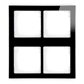 Ramki-poczworne - ramka poczwórna modułowa z efektem szkła czarna z białym spodem deco 12-0-drsm-2x2 karlik