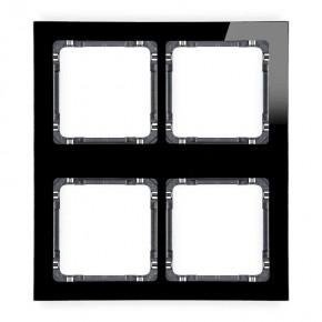 Ramki-poczworne - ramka poczwórna modułowa z efektem szkła czarna z grafitowym spodem deco 12-11-drsm-2x2 karlik
