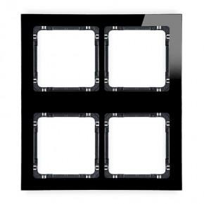 Ramki-poczworne - ramka poczwórna modułowa z efektem szkła czarna deco 12-12-drsm-2x2 karlik