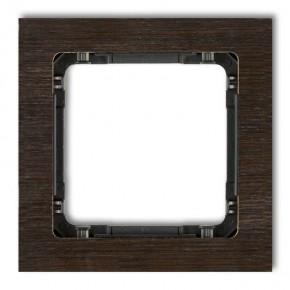 Ramki-pojedyncze - ramka pojedyncza z efektem drewna wenge/spód czarny deco drd-1g karlik