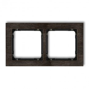 Ramki-podwojne - ramka podwójna z efektem drewna z czarnym spodem deco drd-2g karlik