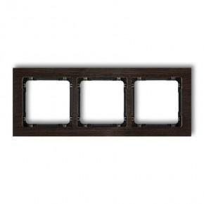 Ramki-potrojne - ramka potrójna z efektem drewna wenge/czarny deco drd-3g karlik