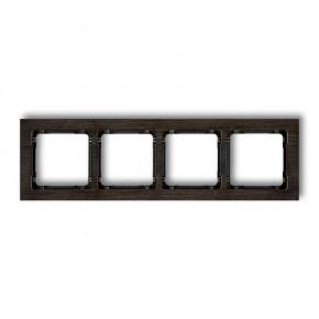 Ramki-poczworne - ramka na 4 kontakty z efektem drewna z czarnym spodem deco drd-4g karlik