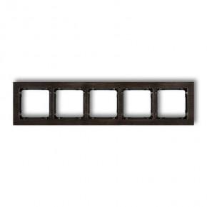 Ramki-pieciokrotne - ramka pięciokrotna z efektem drewna czarny spód deco drd-5g karlik