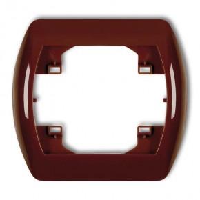 Ramki-instalacyjne - ramka pojedyncza brązowa trend 4rh-1 karlik