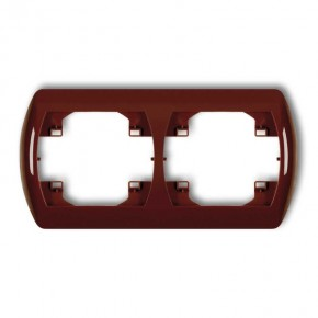 Ramki-instalacyjne - ramka pozioma podwójna brązowa trend 4rh-2 karlik
