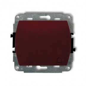 Wlaczniki-i-przyciski-dzwonkowe - przycisk zwierny dzwonek brązowy trend 4wp-4 karlik