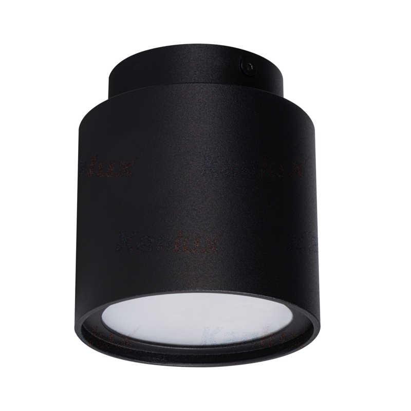 Oprawy-sufitowe - czarna oprawa sufitowa tuba natynkowa gu10 z paskiem led sonor 3000k 24362 kanlux firmy KANLUX