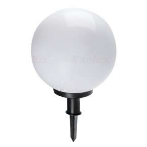 Lampy-kule-ogrodowe - lampa ogrodowa duża kula biała 47 cm e27 idava 47 23512 kanlux