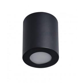 Oprawy-sufitowe - oprawa sufitowa szczelna do łazienki czarna tuba ip44 gu10 sani 29240 kanlux