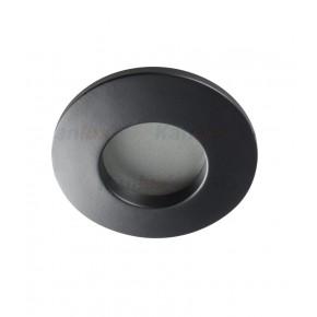 Oprawy-sufitowe-stale - oczko sufitowe czarne do łazienki ip44 gu10 qules ac o-b 26306 kanlux