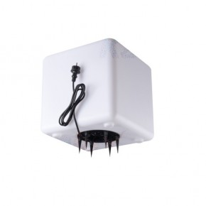 Lampy-ogrodowe-stojace - oprawa ogrodowa sześcian biały ip65 e27 ubos 30 cm 33480  kanlux