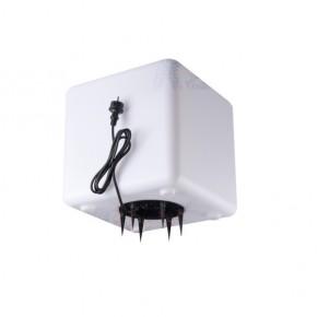 Lampy-ogrodowe-stojace - lampa ogrodowa wbijana sześcian biały ip65 e27 ubos 40 cm 33481 kanlux