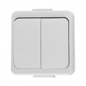 Wylaczniki-podwojne - wyłącznik podwójny natynkowy biały ip44 wnt-2s smart abex