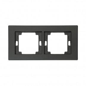 Ramki-podwojne - ramka podwójna czarna antracyt pozioma onyx ra-2o abex