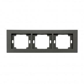 Ramki-potrojne - ramka potrójna czarna pozioma onyx ra-3o abex