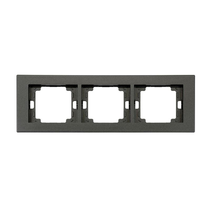 Ramki-potrojne - ramka potrójna czarna pozioma onyx ra-3o abex firmy ABEX